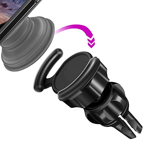 Car Mount Compatible  Users - VOJOY 360° Rotation Air Vent  Out Stand Car Mount with Adjustable Switch Lock for GPS Navigation Compatible with All Smartphones (Black)