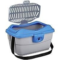 Trixie Mini Capri Transport Box, 40 x 22 x 30 cm, Light Grey/Blue