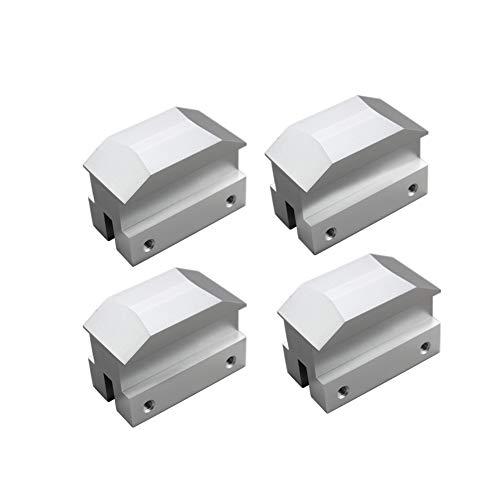 (Dewhel Lift pads Jack Pad Billet Anodized Silver Aluminum Floor Jack bolt on Jack Points For 6th gen Camaro 16-18,except convertable)
