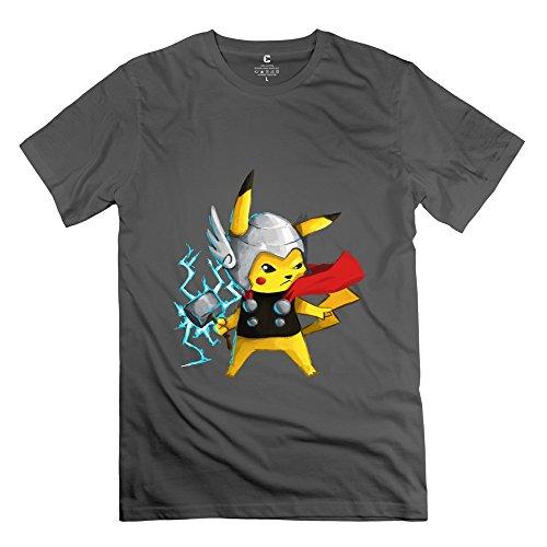 Men's Funny Cartoon T-Shirt XL DeepHeather O Neck Custom Clothing
