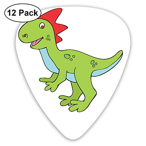 Halloween Cute Dinosaur Clipart Small Medium Large 0.46 0.73 0.96mm Mini Flex Assortment Plastic Top Classic Rock Electric Acoustic Guitar Pick Accessories Variety Pack]()