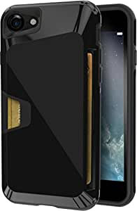Silk iPhone 7 Rugged Case - Vault Armor for iPhone 7 [Protective Non-Slip Grip Cover] - Jet Black