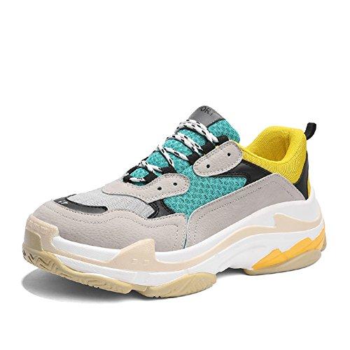 Nero Scarpe Outdoor Puro Sport Da Xue Casual Spring Travel Giallo Fall Platform Shoes rosso Blu D Lovers Corsa Suede Bianco Stringate Traspirante verde XXvFZ