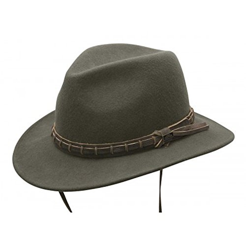 1a35a43706 Conner Hats Men's Hat Country Wool Outdoor Hat, Loden, ...