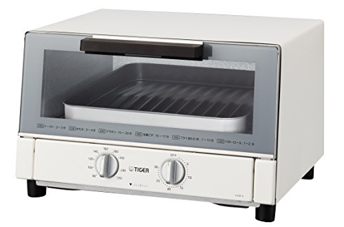 TIGER toaster oven freshly baked white wide KAM-A130W by Tiger