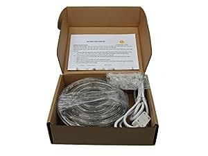 18FT COOL WHITE LED FLAT ROPE LIGHT KIT FOR 120V, Christmas Lighting, Outdoor Rope Lighting