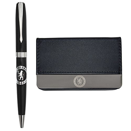 Chelsea Football Club Official Soccer Gift Boxed Business Card Holder & Pen ()