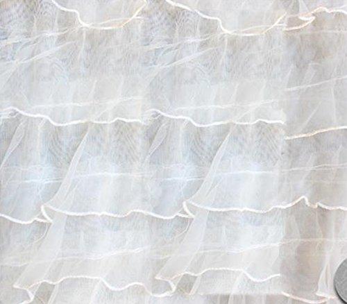 Organza Ruffle Mesh Fabric 54