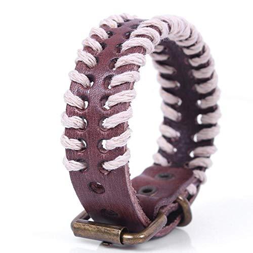 Lannmart Ladies New Creative Personality Wild Hot Supply Linen Rope Hand-Woven Bracelet Jewelry Belt Leather Bracelet Gift
