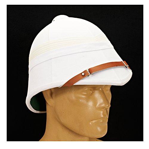 British Victorian Colonial White Pith Helmet P-1871