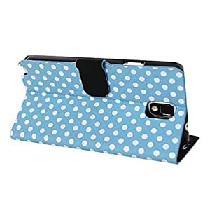 Round Dot Pattern Pu Leather Case with Card Slot for Samsung Galaxy Note 3 N9000