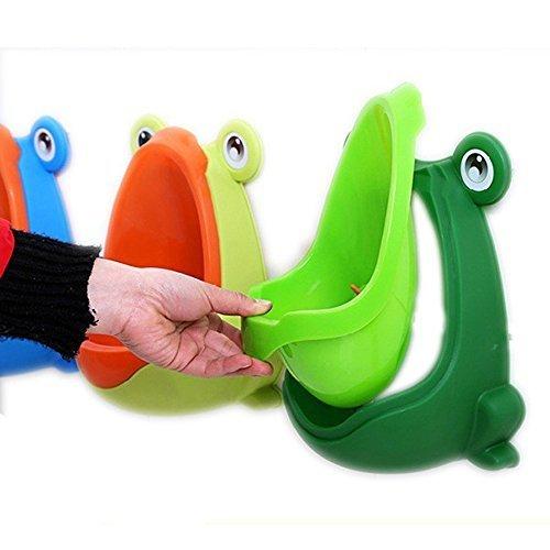Utilisez un urinoir de b/éb/é rendez-vous amusant VIPMOON Colorful Frog Boys Urinoir de formation de pot avec cible tourbillonnaire stress facile Gratuit pour le pot Vert