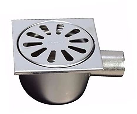 100x100 mm Wageerecht 304 komplett aus Edelstahl MERT Bodenablauf einteilig