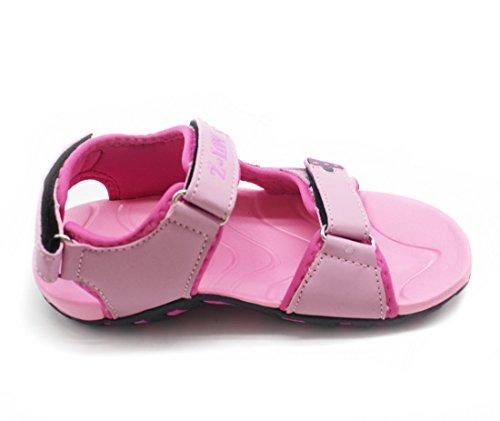 Joymoze Sandalias de Verano Para Niñas Ligeras con Correas Ajustables-Sandalias de Agua Deportivas Rosado