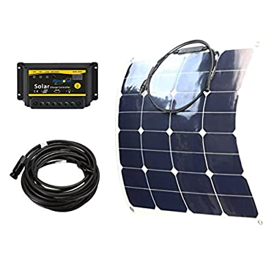 Best Cheap Deal for Giosolar 50W Flexible solar panel kit for boat caravan motorhome 12v 10A LED controller by Giosolar - Free 2 Day Shipping Available