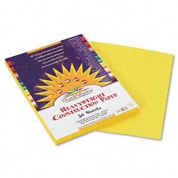Sunworks 9x12 Construction Paper - Yellow 8403