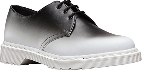 Dr. Martens Mens 1461 Oxford White/Black Fade Out Backhand Size UK 7 (8 M US Men/9 M US Women)
