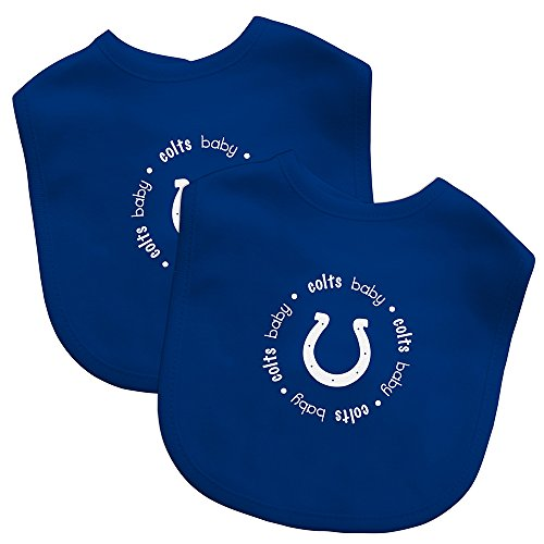 Baby Fanatic Team Color Bibs, Indianapolis Colts, 2-Count (Colts Indianapolis Bib Baby)