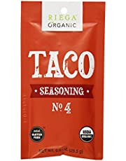 Riega Organic Taco Seasoning, 8 Count (Pack of 8)