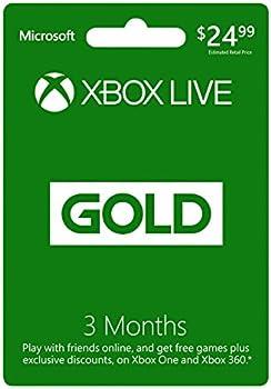 Microsoft Xbox Live 3-Month Gold Membership (Digital Code)