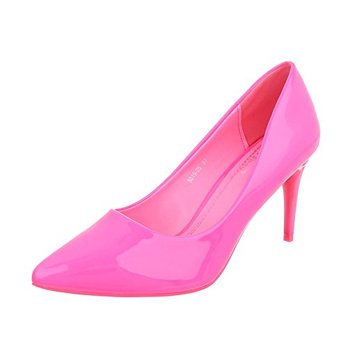 Pink 5015 Ital Design Pumps Pumps Stilettoabsatz Klassische 25 Klassische Heels High Damenschuhe Pfennig Pumps P7q7xFr