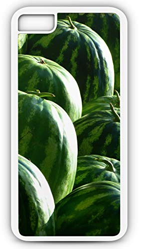 iPhone 8 Plus 8+ Case Melons Watermelons Fruit Green Seedless Watermelon Customizable by TYD Designs in White Plastic Black Rubber Tough Case]()