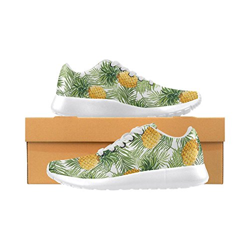 InterestPrint Womens Jogging Running Sneaker Lightweight Go Easy Walking Comfort Sports Athletic Shoes Yellow Pineapple and Leaves o7kBX