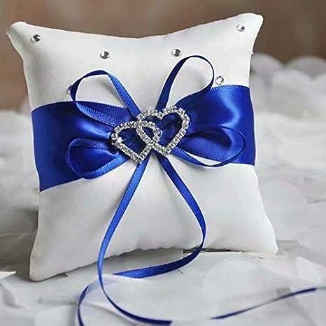 Lovely Bud - Cojín para anillos de boda (15 x 15 cm), color ...