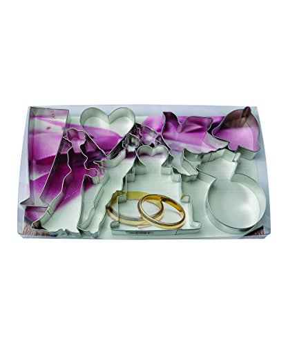R&M International 1821 Wedding Bridal Cookie Cutters, Assorted, 9-Piece Set
