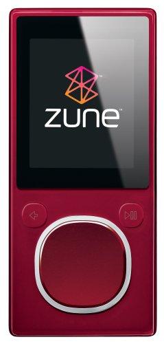 Zune 4 GB Digital Media Player (Red)
