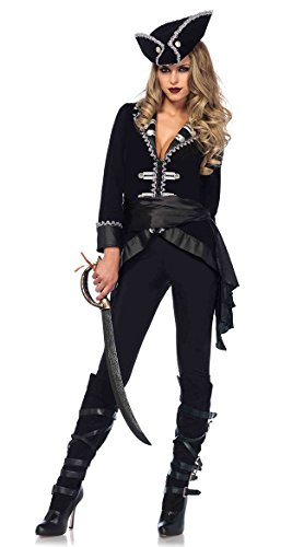 Black Beauty Pirate Adult Womens Costumes (Seven Seas Beauty Adult Costume - Medium)
