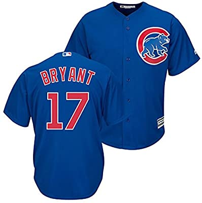 best website 181a7 0fe10 Majestic Kris Bryant Chicago Cubs Youth Cool Base Alternate Blue Replica  Jersey