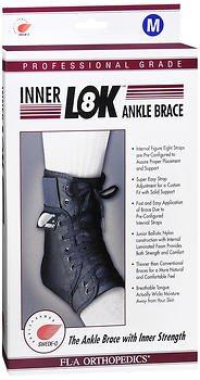 FLA Orthopedics Inner LOK8 Ankle Brace - 1ea, Pack of 6