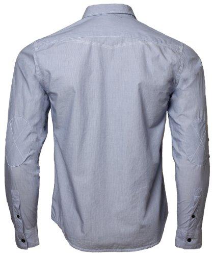 Dissident 1H1418 Chemise en coton à manches longues retroussables pour Homme, Bleu, Moyen