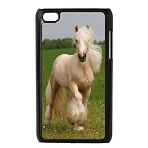 Clzpg Customized Ipod Touch 4 Case - Horse shell phone case