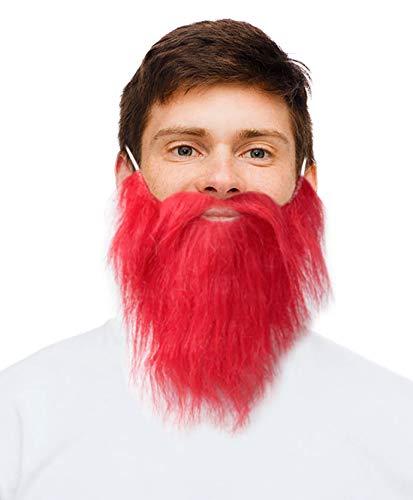 Costume Adventure Red Beard Fake Irish Leprechaun Beard Sports Fan -