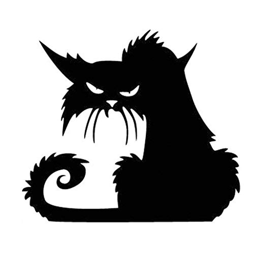 Scary Cats For Halloween (Coolayoung Black Cat Wall Sticker, 15 x 17inches DIY Halloween Removable Decal for Door Window Room Pary)