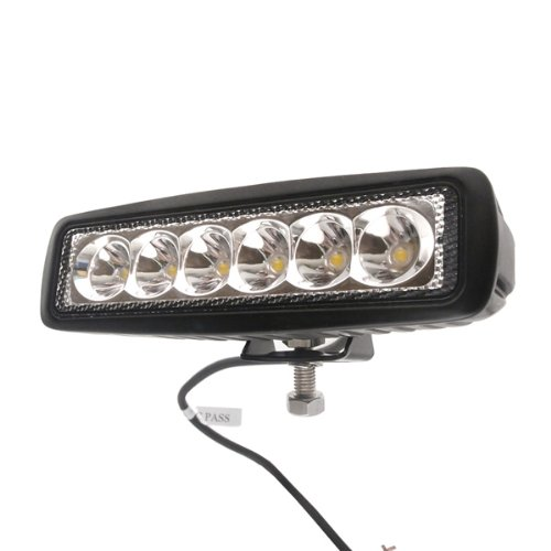 TMH 18w Bar Shape 30 Degree LED Work Light Spot Beam Lamp Driving Light, Jeep, Off-road, 4wd, 4x4, Utv, Sand Rail, Atv, Suv, Motorbike, Motorcycle, Bike, Dirt Bike, Bus, Trailer, Truck, Train, Mining Truck, Excavator, Bulldozer, Crane, Road Roller, Fork Lift, Fire Engine, Police & Rescue Vehicle, Military Vehicle, Camping, Courtyard Lamp, Fishing, Boat, Yacht, Road Lamp, Street Light, Fog Lamp, Day Light