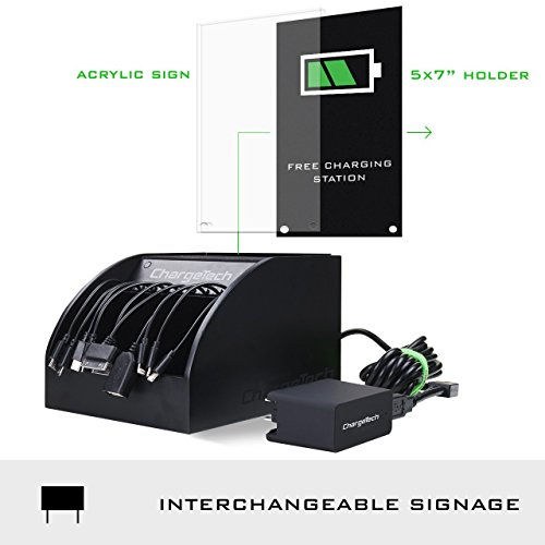 ChargeTech - CS10 Cell Phone Charging Station Dock w/ 10 Universal Charging Tips Included for All Devices: iPhone, iPad, Samsung Galaxy, Note Tab, Nexus, HTC, Motorola, Nokia, GoPro, Power Bank by ChargeTech (Image #2)