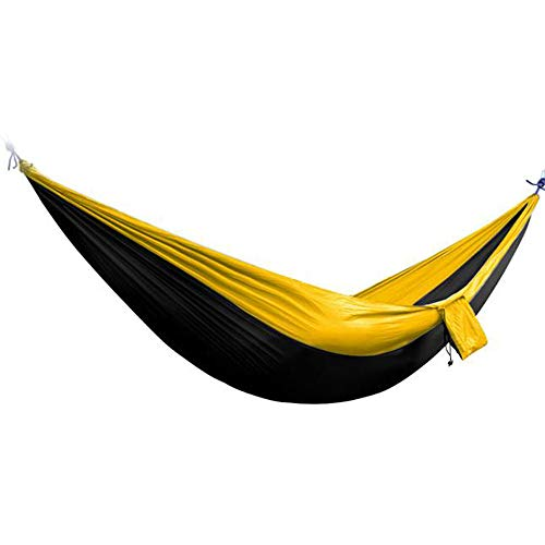 Price comparison product image Transser - Single & Double Camping Hammock,  Portable Lightweight Parachute Nylon Hammock Tree Straps Backpacking,  Indoor Outdoor Backpacking Survival Travel,  Camping,  Portable,  US Stock