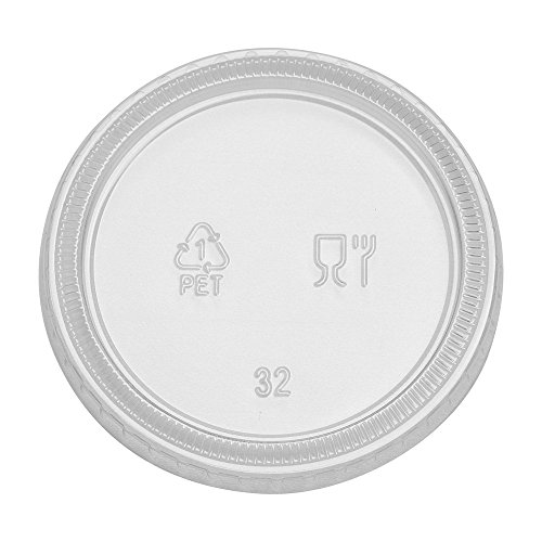Dixie PL40CLEAR  Plastic Portion Cup Lid, Fits 3.25 oz., 4 oz. and 5 oz., Clear (Pack of 2400)