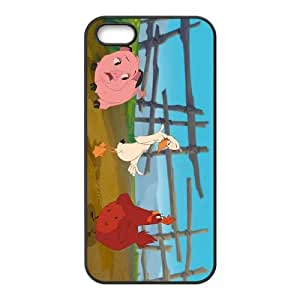 iPhone 4 4s Phone Case Covers Black Home on the Range Character Audrey the Chicken DSVEWLHTV5846 Clear Phone Cases Unique