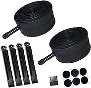 """Listenman 2 Pack 16"""" x 1.75/1.95/2.15 Bike Inner Tube with Bike Tube Repair Tool Kits, 4 Tire Levers, 6 Self-A"""