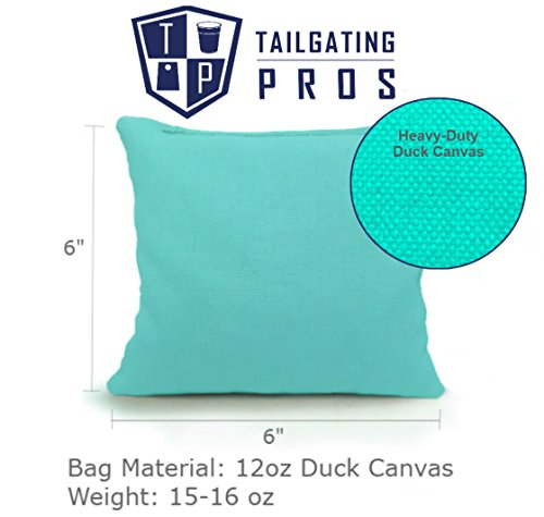 Tailgating Pros 4'x2' & 3'x2' Cornhole Boards w/Carrying Case & Set of 8 Cornhole Bags (You Pick Color) 25 Bag Colors! (Black/Baby Blue, 3'x2' Boards) by Tailgating Pros (Image #5)