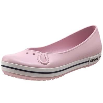 Crocs Women's Crocband Flat,Bubblegum,4 M US