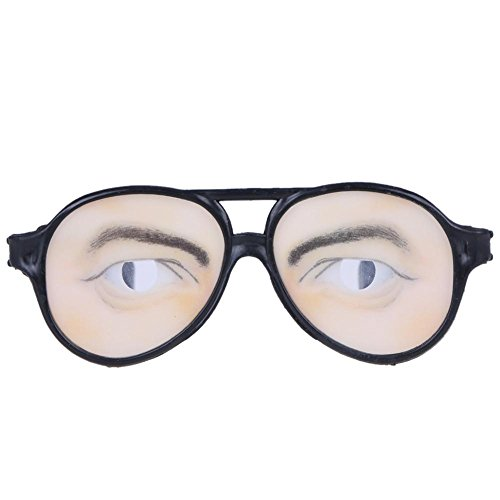 Whitelotous Funny Costume Eye Glasses Toy Halloween Party Prop Gag Gift (Man's Eyes)]()