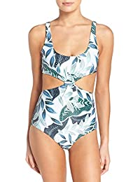 Women's Knot-Front One Piece Swimsuit