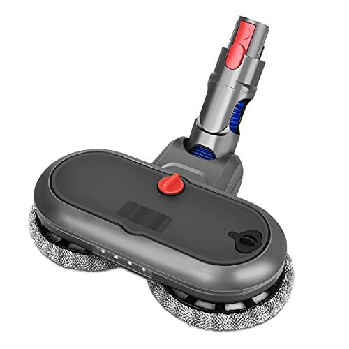 MOPEI Duo Spinner Balai Motorisé Compatible avec Dyson V15 V11 V10 V8 V7 Série Aspirateur Sans Fil | Phares à LED | Y compris un réservoir d'eau