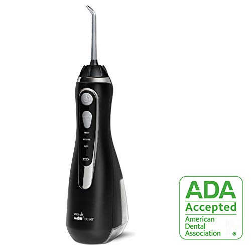 Waterpik Cordless Water Flosser Rechargeable Portable Oral irrigator for Travel & Home - Cordless Advanced, Wp-562 Black