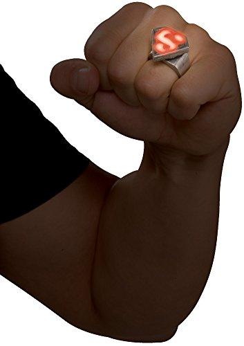 [Light-up LED Superman Ring Costume Accessory] (Scissors Paper Rock Costume)